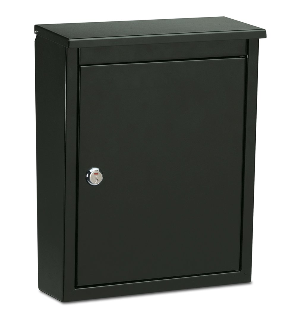 Architectural Mailboxes 2580B-10 Chelsea Locking Wall Mount, Medium, Black