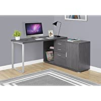 Monarch Specialties Computer Desk - 60L / Grey Left or Right Facing