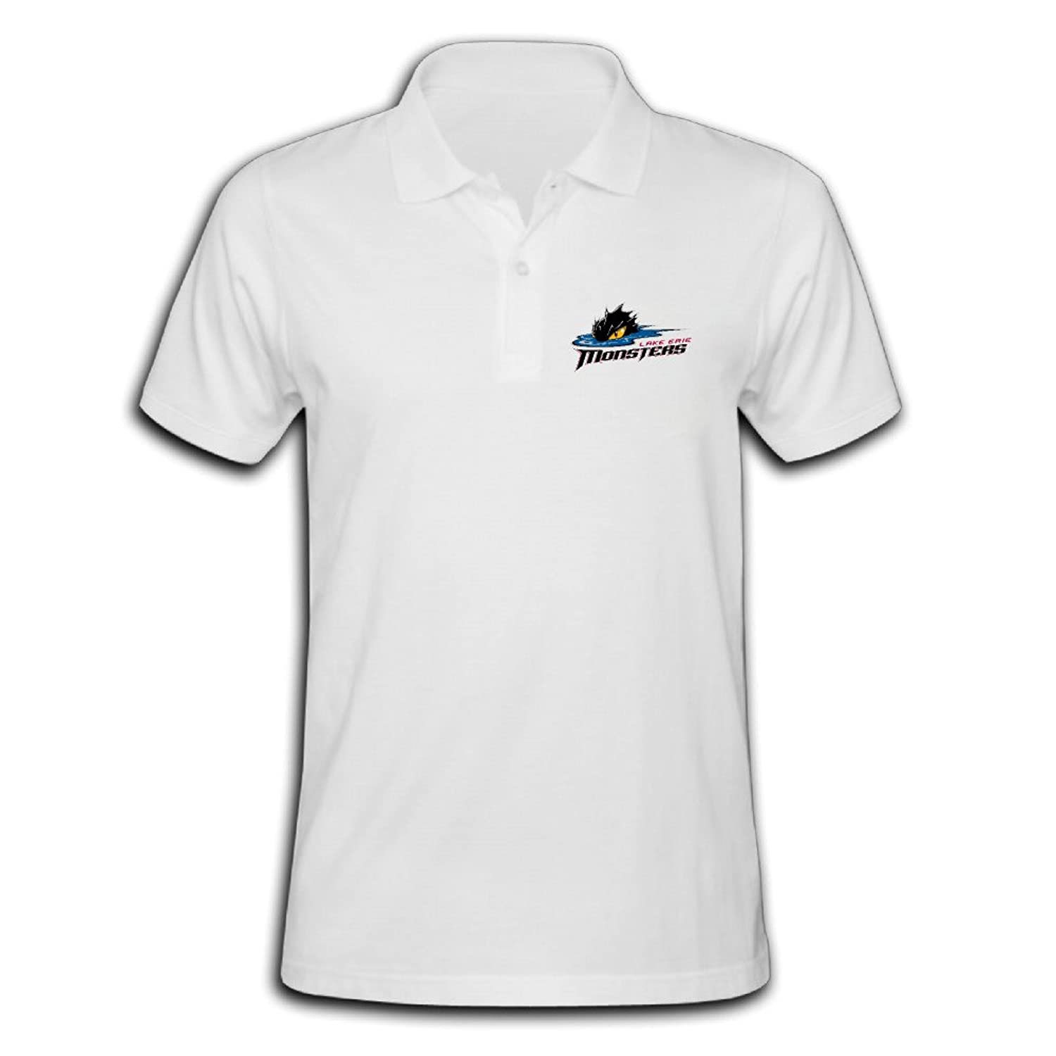 Men's Lake Erie Monsters Solid Short Sleeve Pique Polo Shirt