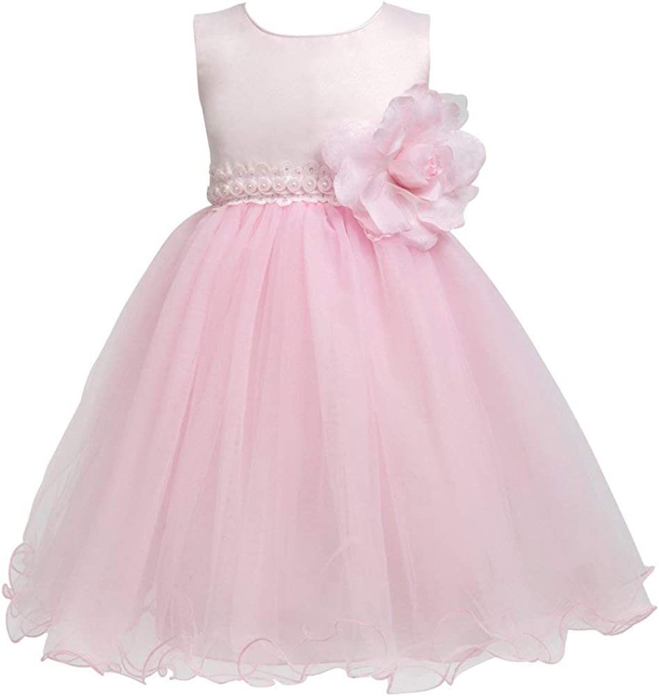 Merry Day Little Girls Tulle Flower Dress Ball Gown for Wedding Birthday Party,0-10 Years