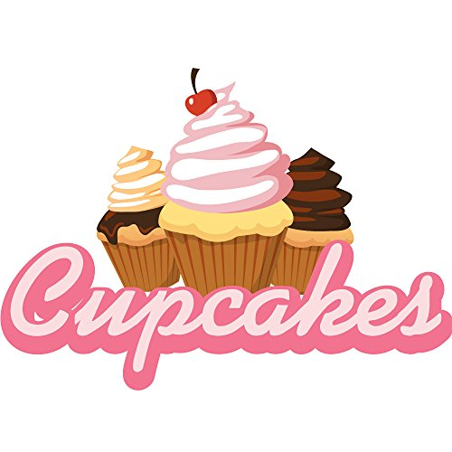 """Cupcakes 36"""" Concession Decal Sign cart Trailer Stand Sticker Equipment"""