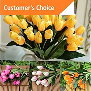 Hebel 1 Bouquet 9 Heads Fake Tulip Artificial Silk Flower Home Office Decor Model ARTFCL - 24 | 12