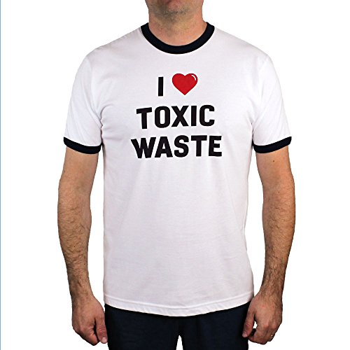 - I Love Toxic Waste T - Shirt, White, Medium