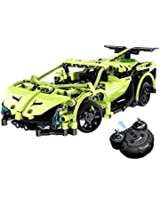 CrossRace MKBY01 Model Build Your Own Remote Control Car, Electric, 1:14 2.4GHz Construction Kits Sets,Gift Toys for 12 Years Old Boys, Green