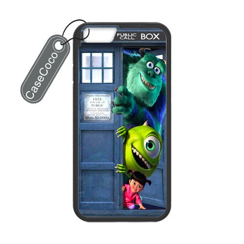 Monsters Inc Tardis Custom Hard Plastic & Rubber Case for iPhone 6 - iphone 6 Case Cover