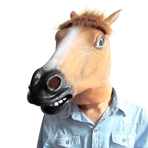 Latex Brown Wild Horse Mask (Horse Mask Child)