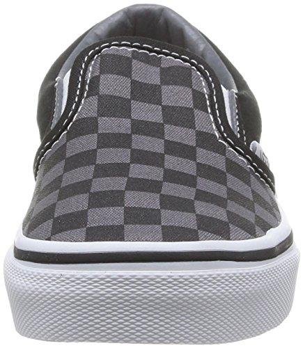 Vans Kids Classic Slip-on (little Big) (tablero De Ajedrez) Black / Pewter