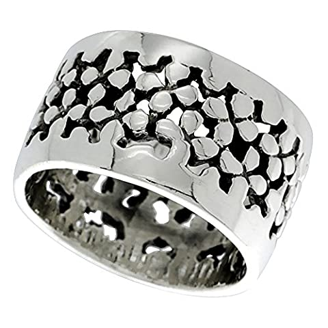 Sterling Silver Pebbles Ring 5/8 inch, size 11 (Pebble Band Ring)