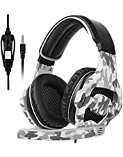 [SADES 2017 Multi-Platform New Xbox one PS4 Gaming Headset ], SA810 Gaming Headsets Headphones For New Xbox one/ PS4/PC /Laptop /Mac /iPad /iPod (Black&Camouflage)