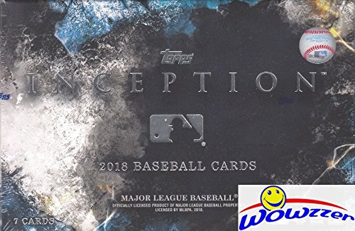 2018 Topps INCEPTION Baseball Factory Sealed HOBBY Box with AUTOGRAPH,2 Parallels and 4 Base Cards! Look for Autographs of Shohei Ohtani, Mike Trout, Aaron Judge, Derek Jeter & Many (Cards Hobby Box)