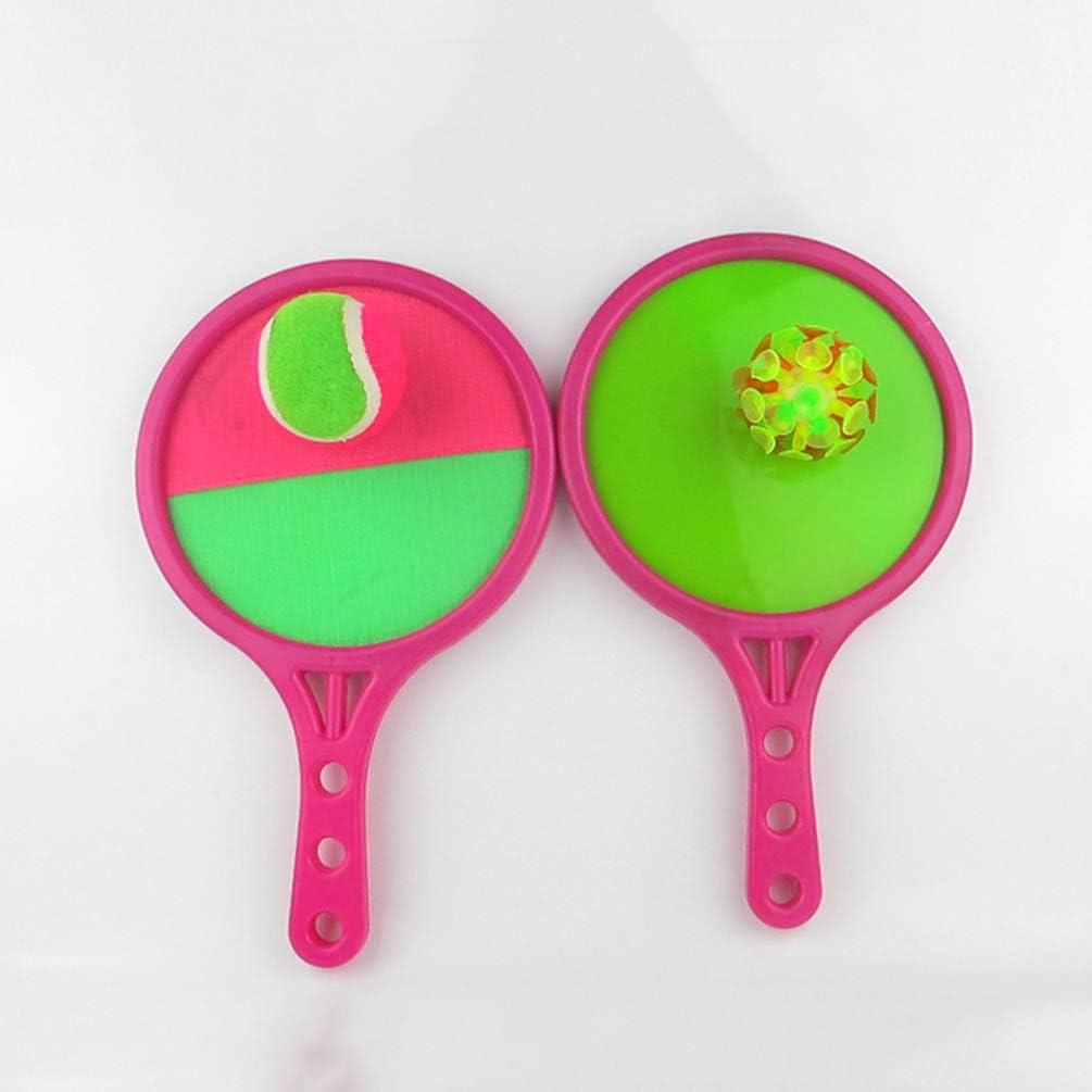 2 Brett 2 Ball Rosige Farbe Garneck Fangen B/älle Spielzeug Werfen Fangen Spielzeug Sportball Spielzeug Eltern Kind Interaktives Spielzeug f/ür Erwachsene Kinder