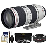 Canon EF 70-200mm f/2.8 L IS II USM Zoom Lens with 2x Teleconverter (=70-400mm) + 3 UV/ND8/CPL Filter Kit for EOS 6D, 70D, 7D, 5DS, 5D Mark II III, Rebel T5, T5i, T6i, T6s