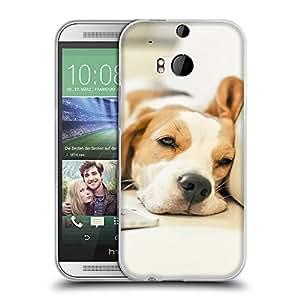 Super Galaxy Coque de Protection TPU Silicone Case pour // V00000895 Patrón del perro de perrito // HTC One M8