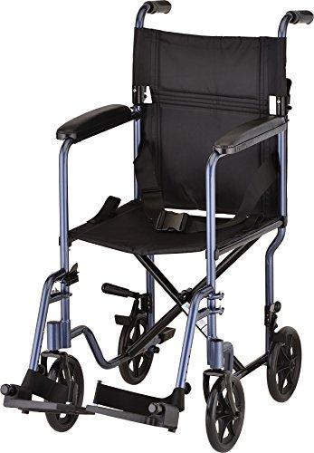 "NOVA Medical Products 327 Lightweight Transport Chair, 17"",Dark Blue"