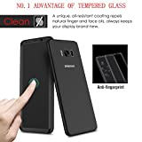 TPFOON Galaxy S8 Tempered Glass Screen Protector With Soft TPU Screen Protector For Samsung Galaxy S8 (Black)