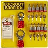 Brady Padlock, Hasp y Tag Lockout Station, incluye 10 candados de acero