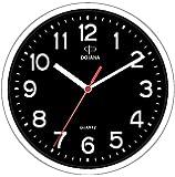 Dojana Plastic Wall Clock, DWG337N-WHITE-BLACK
