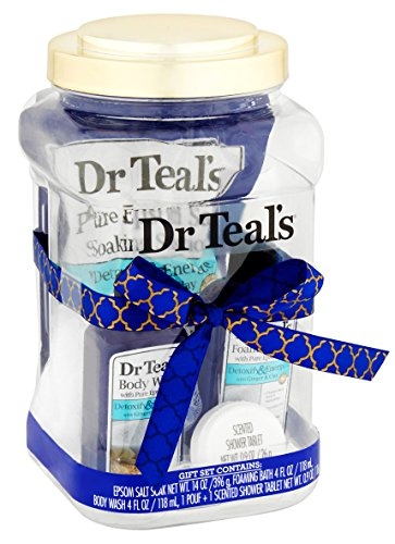 Dr Teal's Detoxify & Energize with Ginger & Clay 5-Piece Jar Bath Gift - Malls Pennsylvania Outlet