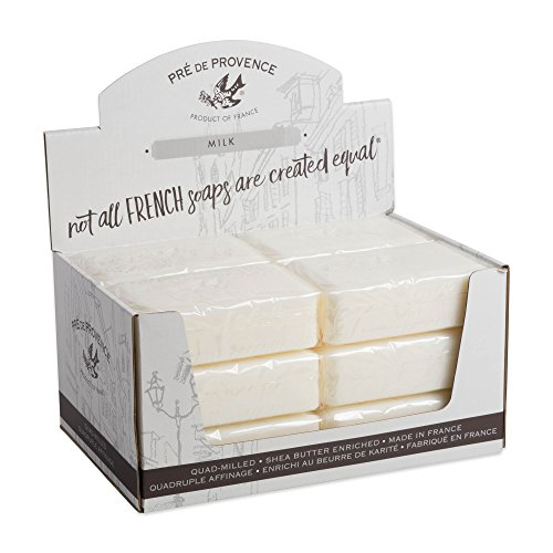 Pre de Provence Artisanal French Soap Bar Enriched with Shea Butter, Milk, 250 Gram (Pack of 12) ()