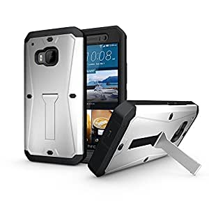 Comfortable White Great Light Weight Ergonomic Design HTC One M9 Armored Tank Cover Case Characteristic Style for HTC One M9 Armored Nice Tank Phone Case