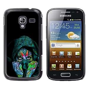 LECELL--Funda protectora / Cubierta / Piel For Samsung Galaxy Ace 2 -- Colorido Mujer india --