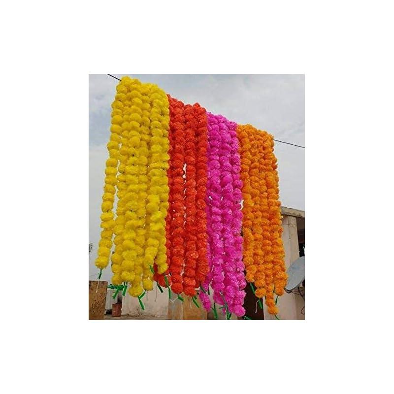 silk flower arrangements worldoftextile assorted 30 pieces of flower strings torans flower garland lines marigold mango flower strings artificial blossom indian partydecore mix