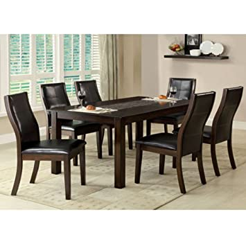 Townsend Brown Cherry Finish Contemporary Style 5 Piece Dining Table Set