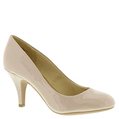 Mootsies Tootsies New Womens Clover 6 Pump Nude Patent 75