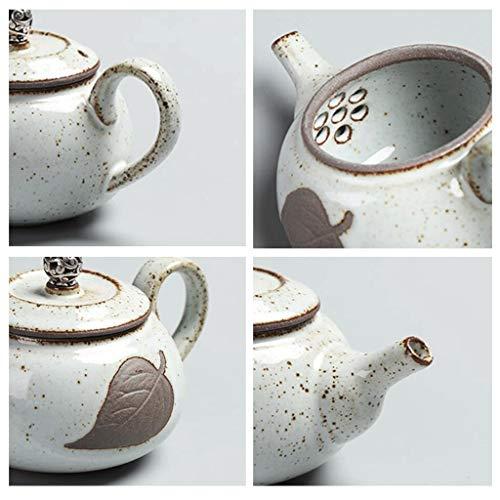 Exquisite Tea Cups Saucers Set Set Coffee Cup Silver Teapot Tea Pot Manual Tea Filter Wood Teapot Household Kitchen 200ML by Kinue (Image #3)