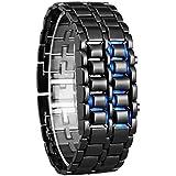 Blue Diamond LED Blue Light Chain Digital Watch - for Boys& Girls