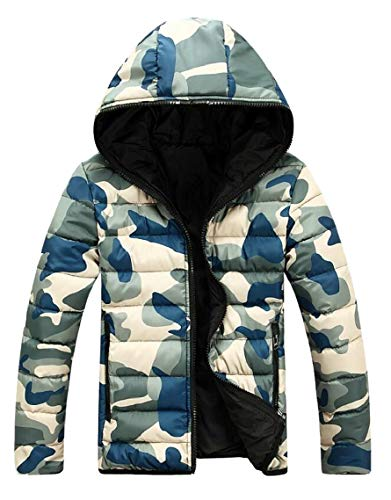 4 Quilted Men's Coat Camouflage Outwear Padded Hooded Parkas Gocgt Jacket Puffer A7gfvqxww