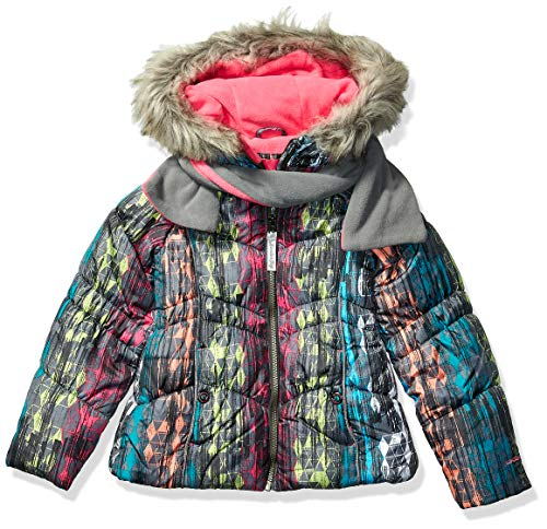 London Fog Girls Winter Coat with Hat & Scarf