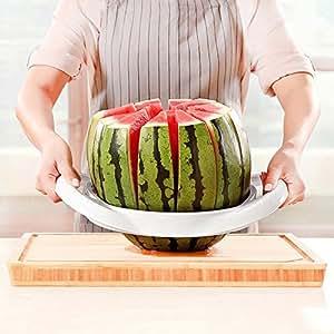 Cortador de Sandía Melón Rebanadora de Frutas Melón Cortadora de Fruta de Acero Inoxidable 12 Pétalos37cm x 27cm x 7cm