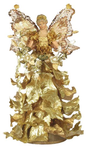 "16"" Beautiful Tree Topper Mantel Casablanca Angel - Gold A01657"