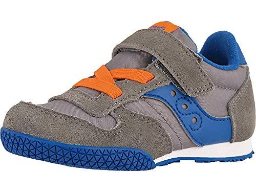 Saucony Kids Boy's Bullet Jr (Toddler/Little Kid) Grey/Blue/Orange 11 Little Kid (Kid Shoes Saucony Little)