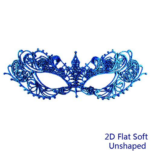 PATY&COSMSK Ladies Lace Masquerade Mask for Carnival Halloween Ball Masquerade Hollow Out Half Face Party Masks TB-2D]()