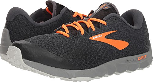 Brooks Men's PureGrit 7 Black/Orange/Grey 12 D US