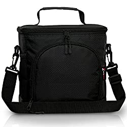 Pwrxtreme Insulated Lunch Bag with Best 2 Way Zipper...