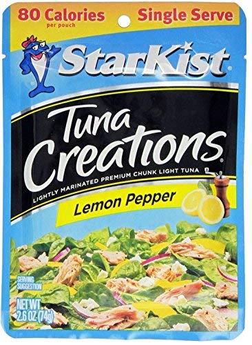Starkist Tuna Creations, Zesty Lemon Pepper, Single Serve 2.6-Ounce Pouch (Pack of 10) (Tuna Creations Lemon)