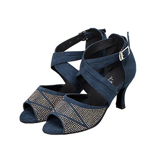 Dance Latin Bottom Ballroom Dance Modern Dance B Soft Shoes Shoes Drill Womens with Shoes WYMNAME Heels High 5OwEx7x