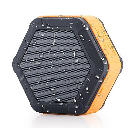 Bluetooth lautsprecher, Bluetooth 4.0 Kabellose Stereo-Lautsprecher, Innen und Außen, Tragbare Bluetooth- Lautsprecher, Eingebautes Mikrofon, IPX5-Standard Wasserdichtigkeit, Kompatibel mit Smartphones, Tablets und Laptops