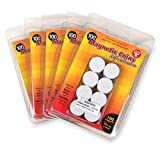 Hygloss Products Self Adhesive Magnetic Coins, 3/4'', Black, 500 Pieces (61405)