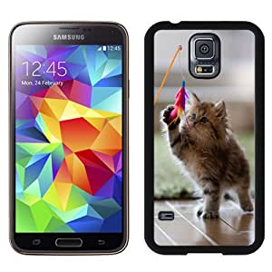 New Fashion Custom Designed Skin Case For Samsung Galaxy S5 I9600 G900a G900v G900p G900t G900w Phone Case With Kitten At Play Phone Case Cover