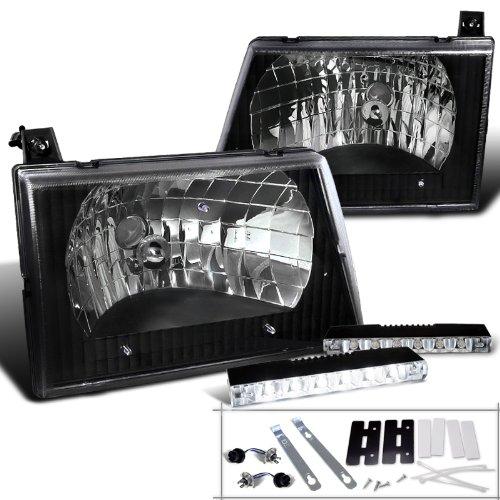 - Ford E-Series Econoline Diamond Black Headlight+6-LED Fog Lights