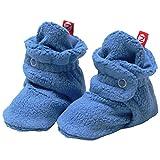 2 Pack Zutano Booties Unisex Fleece Slipper Socks Gray Periwinkle 12M
