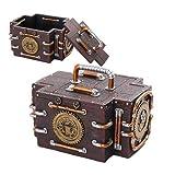 Steampunk Gauge Box Gearwork Jewelry Trinket Keepsake by PTC