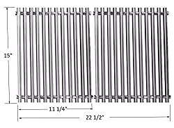 Bbq Funland Gs521 Aftermarket Stainless Steel Rod Cooking Grid Cooking Grates Replacement For Weber 7521 Lowes Model Grills And Others Set Of 2