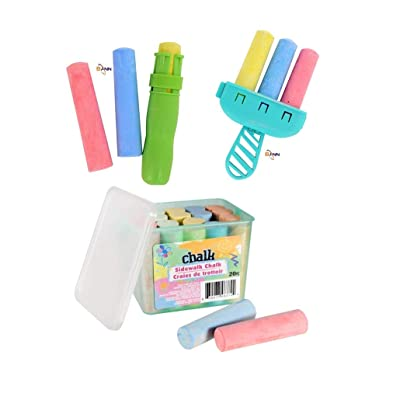 Kids Sidewalk Chalk 26 pieces of colored chalk (Bonus: Fun outdoor activity Surprise!): Office Products