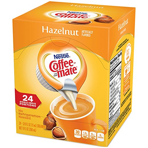 Coffee-mate Coffee Creamer Liquid Singles, Hazelnut, 24 Count (Pack of 4)