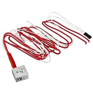sourcing map Boquilla Tubos de Cable 12V 40W la Impresora 3D de ...